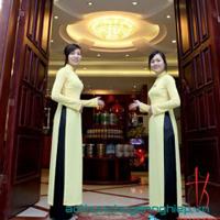 Đồng Phục Khách Sạn Áo Dài - Đồng Phục Du Lịch - Gôn Mai